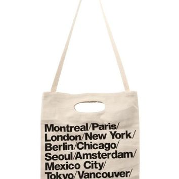 American Apparel Men Bull Denim Woven Cotton Cities Bag with Strap One Size