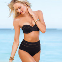 Retro Vintage Victoria's Secret Slim Design Women Two Piece Summer Swimsuit Bathing Suit Bandage Bikini Set _ 229
