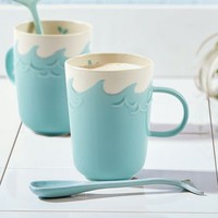 Ocean Waves Mug And Whale Spoon Set