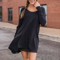 Lightly Layered Tunic, Black