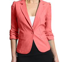 LE3NO Womens Plus Size Blazer Jacket with Stretch (CLEARANCE)
