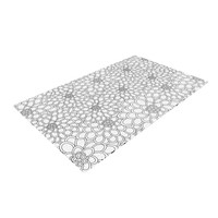 """Julia Grifol """"White Flowers"""" Woven Area Rug"""