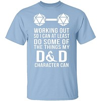 Working Out D&D T-Shirt