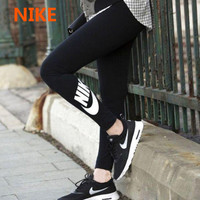 """NIKE"" Fashion Casual Letter Print Women Sweatpants Yoga Pants Leggings Long Pants"