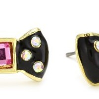 "Betsey Johnson ""Candy Land"" Bow Stud Earrings"