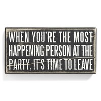 Primitives by Kathy 'Time to Leave' Box Sign