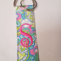 Monogrammed Initial Key Chain- Lily Garden