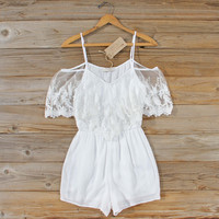 Honeyed Lace Romper