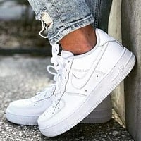 NIKE Air Force 1 classic All White Sneakers Sport Shoes