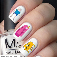 Adventure Time Nail decal 50pc