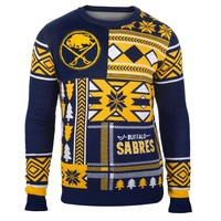 Buffalo Sabres NHL 2015 Patches Ugly Crewneck Holiday Sweater