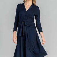 The Two-Fer Wrap Dress by MOMIFORM