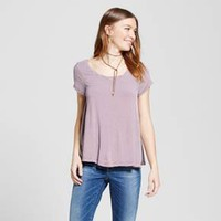 Women's Scoop T-Shirt - Mossimo Supply Co.™ Burgundy Stripe