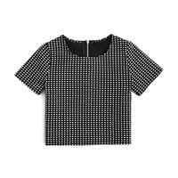 AQUAGirls' Windowpane Plaid Top - Sizes S-XL