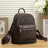 Louis Vuitton Women Fashion Daypack School Bag Leather Backpack