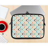 The Vintage Colored Vector Fish Icons Ink-Fuzed NeoPrene MacBook Laptop Sleeve