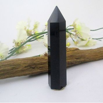 """Hope & Protection""  Black Obsidian Point"