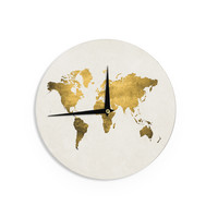 """Chelsea Victoria """"Let Love Light The Way"""" Gold Love Wall Clock"""