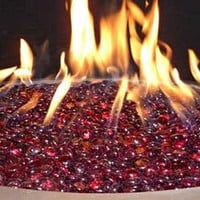 1 Pound Of Round Colored Polished Faceted FireBeads For Fire Pits