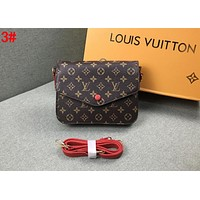 LV Louis Vuitton Trending Women Retro Leather Shoulder Bag Crossbody Satchel 4#