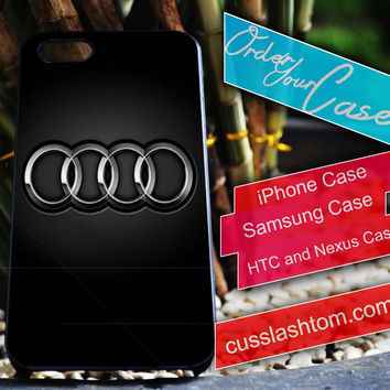Exclusive Audi iPhone for 4 5 5c 6 Plus Case, Samsung Galaxy for S3 S4 S5 Note 3 4 Case, iPod for 4 5 Case, HtC One M7 M8