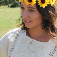 "Flower Crown - ""Lola"" Sunflower Crown"