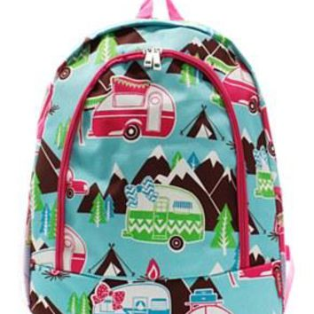 Happy Camper Print Backpack - 2 Color Choices