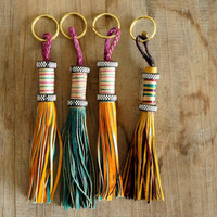 spartanshop — West African Leather & Brass Key Chain