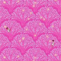 Tree Light Removable Wallpaper in Pink