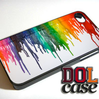 Melted Watercolor Rainbow Art iPhone Case Cover|iPhone 4s|iPhone 5s|iPhone 5c|iPhone 6|iPhone 6 Plus|Free Shipping| Delta 294