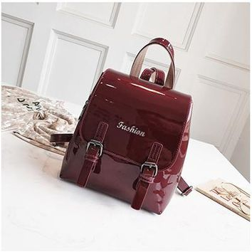 School Backpack trendy Fashion Women Backpack Teen Girl High Quality Teen Leather Backpack Female School Shoulder Bag Large Capacity Solid Color Tote M AT_54_4