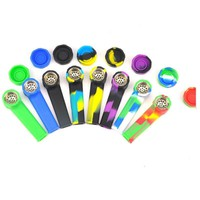 Cigarette New Design 25g 9cm Little Silicone Small Weed Pipes Electric Pvc Smoking Pipe Threader