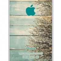 iZERCASE Pastel Wood with Bush Pattern RUBBER iphone 5 case - Fits iphone 5, iPhone 5S T-Mobile, AT&T, Sprint, Verizon and International