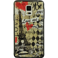 DW Premium TPU IMD Case for Samsung Galaxy Note 4 - Paris Amour
