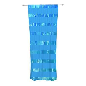 Wet and Wild Striped Semi-Sheer Curtain Panels