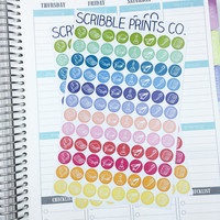 96 School Student Themed Die-Cut Stickers // (Perfect for Erin Condren Life Planners)
