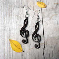 Music Earrings - G Cleft