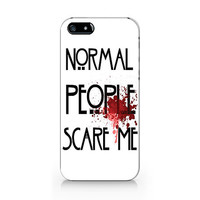 Normal people scare me phone case, iPhone 5 5S case, iPhone 4 4S case, Free shipping M-535