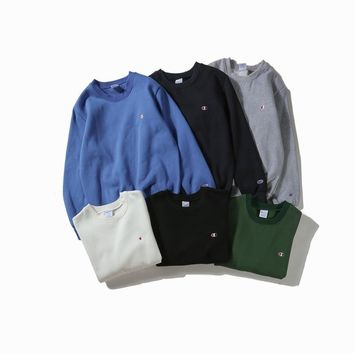 Winter Fashion Embroidery 6-color Round-neck Pullover Long Sleeve Hoodies [390691979300]