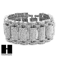 ALL RHODIUM PLATED MICRO PAVE SIMULATED DIAMOND 8.5 BRACELET KB023S