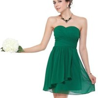 Ever Pretty Ruffles Empire Line Chiffon Padded Short Cocktail Dress 03647