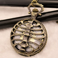 Fashion cool backbone Watch Necklace Chain Christmas gift,pocket watch for men and women