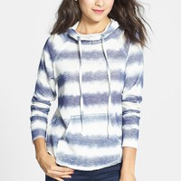 Love on a Hanger Stripe Cotton Hoodie (Juniors) (Online Only) | Nordstrom