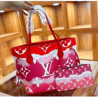 Louis Vuitton classic letter print shopping bag with small bag fashion lady messenger shoulder bag