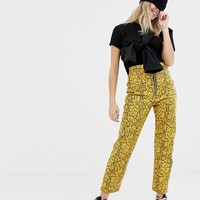 The Ragged Priest faux leather snakeskin pants at asos.com
