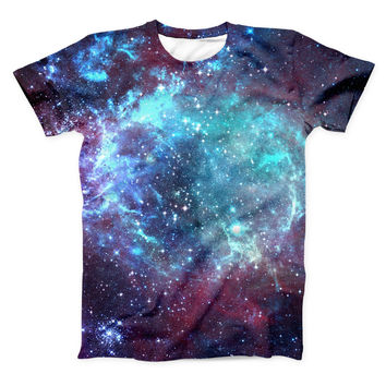 The Trippy Space ink-Fuzed Unisex All Over Full-Printed Fitted Tee Shirt