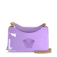Versace Palazzo Lilac Patent Leather Shoulder Bag