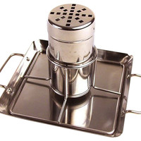Beer Can Chicken Rack w/ Drip Pan, Grill Tools & Accessories