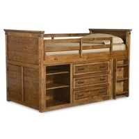 Legacy Bryce Canyon Mid Loft Bed, Twin In Heirloom Pine