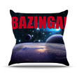 "KESS Original ""Bazinga Red"" Throw Pillow"